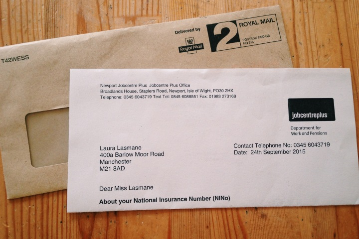 Becoming One Of 'Them' – Getting My National Insurance Number